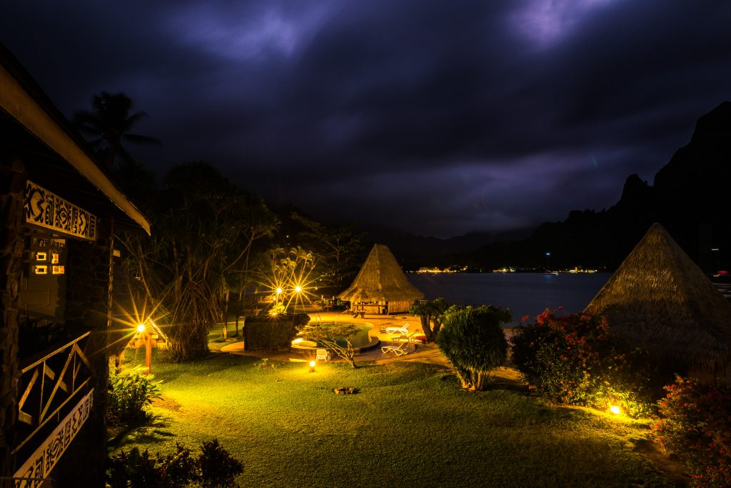 Cook's Bay by night, Moorea.