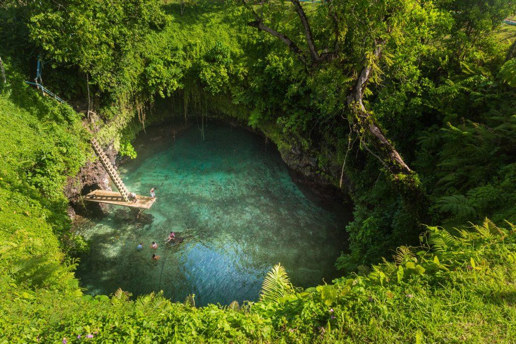 To-sua ocean trench, Samoa.