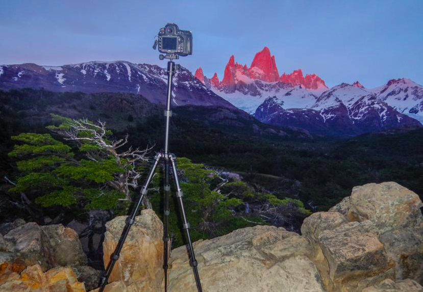 MeFoto tripod in action, Argentina